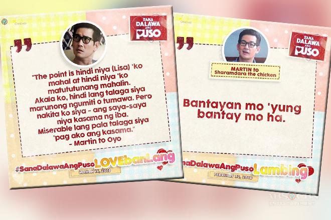 Trending Lines of Richard Yap as Martin in Sana Dalawa Ang Puso