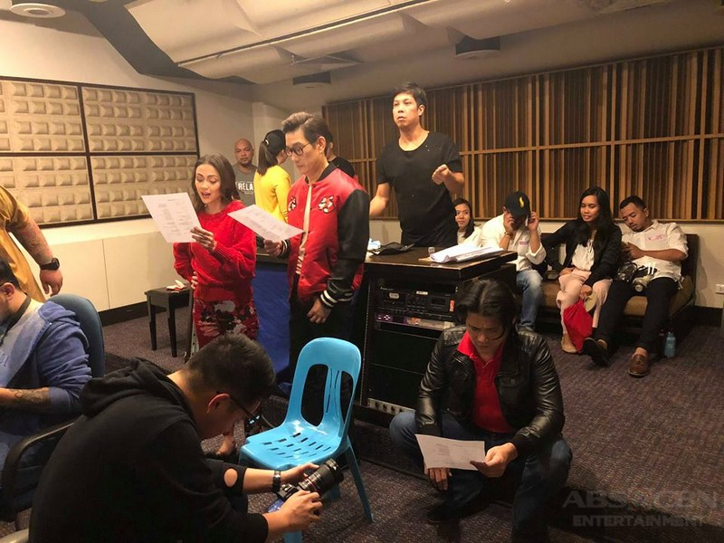 LOOK: Robin, Jodi and Richard are set to sing the Feb-ibig song of ABS-CBN