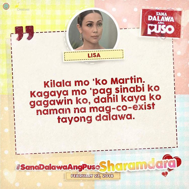Trending Quotes of Lisa in Sana Dalawa Ang Puso